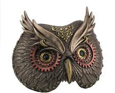 Steampunk Owl Mask Wall Plaque Statue Sculpture Figure