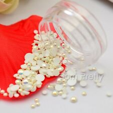 Flatback Pearl 3D UV Gel Nail Art Charms Crafts Studs Manicure Decoration