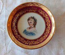 "Miniature Cabinet Plate ""Marie Antoinette"" Limoges Porcelaine d'Art, Hand Finish"