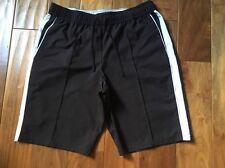 SB ACTIVE Men's Black & White Trim Athletic Shorts Size Large