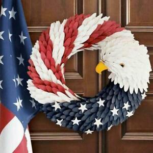 Americana Patriotic American Eagle Flag Wood Curl Wreath Best