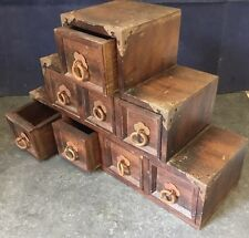 Pre-owned Unusual Vintage Table Top Chest of Spice Trinket Organiser Drawers