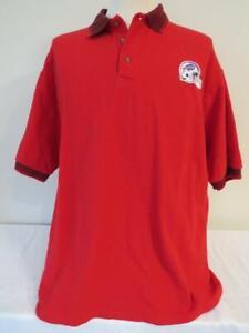 """BUFFALO BILLS Cotton RED Polo Golf Shirt XL NFL Football Jerzees 50"""" Chest NWOT"""