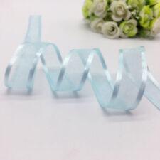 "5yds 3/4""(20mm) Satin Edge Sheer Organza Ribbon Bow DIY Wedding Decoration"