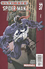 SPIDERMAN Marvel Comic Signed By Writer BENDIS Artists BAGLEY, THIBERT COA