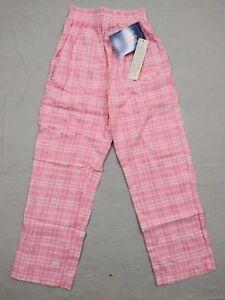 M64 New NWT REEBOK New York Jets NY Pink Embroidered Pajama Pants GIRLS Sizes