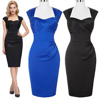 HOT Vintage Style 1950's Bodycon Dress Pin Up Formal Evening Party Wiggle Pencil
