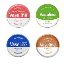 Vaseline Lip Therapy Balm Petroleum Jelly 20g Pocket Size Pots  **4 Flavours**
