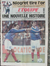 L'Equipe du 23/2/2000 - Niogret - Avant France-Pologne - Coupe de l'América -