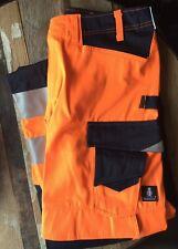 "Mascot Kendal Work Trousers Hi Vis Reflective 32"" W 32""L EN ISO 20471 - class 2"