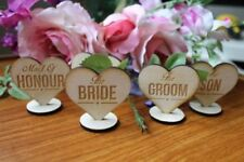 Unbranded Wooden Wedding Table Decorations