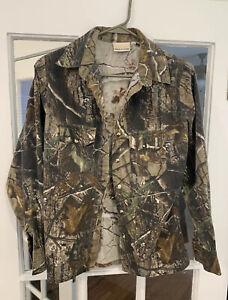 Womens SHE Safari Realtree AP HD Hunting Outdoor Button-down Shirt Size XS