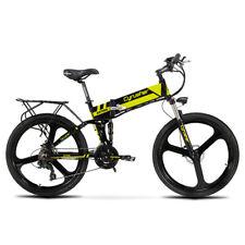 Yellow Cyrusher Electric Bike XF700 400W 36V 21S Electric Folding Mountain Bike