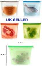 1Litre Silicone Vacuum Food Sealer Bags Wraps Fridge Food Storage Container