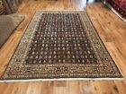 Antique Large 6x9ft Oriental Traditional Turkish Hand-Woven HEREKE 1970s Rug.
