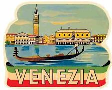 Venice Italy  Venezia    Italia   Vintage 1950's  Looking Travel Decal Sticker