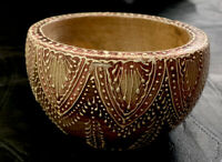 ANTIQUE WOODEN CARVED BOWL Made In India