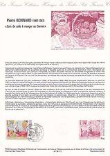 Document Philatélique Timbre 1er Jour : 14/04/ 1984 - Pierre Bonnard