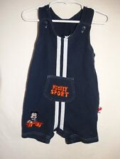 DISNEY BOYS TODDLERS MICKEY MOUSE OVERALL SHORTS SIZE 24 MONTHS COLOR BLUE