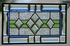 Beveled Stained Glass Window Panel blue,green,clear 💥