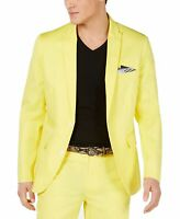 INC Mens Blazer Yellow Size XS Two-Button Slim Fit Notched Collar $129 #292