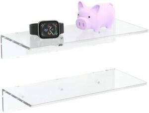 FEMELI Clear Acrylic Floating Wall Shelf for Figures Collections (OPEN BOX)