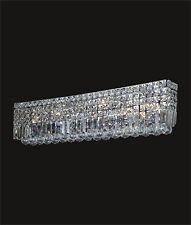 """Beautiful 7-Light Crystal Wall Sconce (W30"""" x H6.5"""" x E4.5"""") Chrome Frame SALE"""
