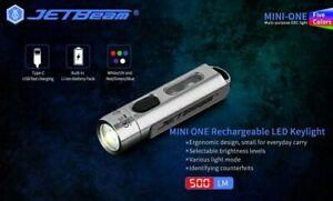 New Jetbeam MINI ONE USB Charge Cree XP-G3 500 Lumens 5 Color LED Flashlight