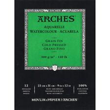 "Arches 140 lb. Cold Press Watercolor Paper Pads - 9x12"" - 140 Lb. Cold Press,"