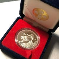 1986 China Tiger Animal Chinese Zodiac 10 Yuan Silver Proof Coin w/ Box