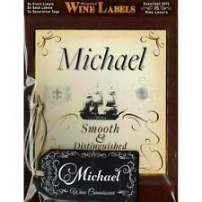 Mulberry Studios Personalised Wine Label Michael - NEW - WL121