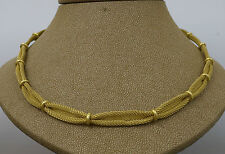 18carat Oro Amarillo De Malla / Lace collar de 17 pulgadas pulgadas (38,3 Gramos)