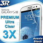 3X LCD Clear Screen Protector for Samsung Galaxy SIII S3 i9300
