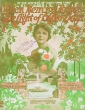 When Mem'ry Brings The Light of Other Days 1915, 2nd offered vintage sheet music
