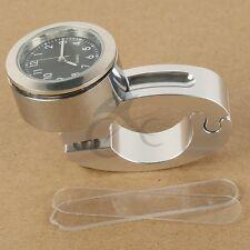 "Motor 7/8"" 1"" Handlebar Mount Clock Watch Fit For Kawasaki Ninja ZX Vulcan ZRX"
