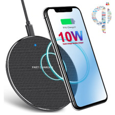 Qi Wireless Fast Charger Charging Pad Dock For iPhone 8 X XR 11 Samsung Android