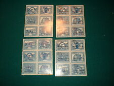 1970's GUATEMALA, 4 DIFFERENT BLOCKS OF 6 STAMPS,  MH