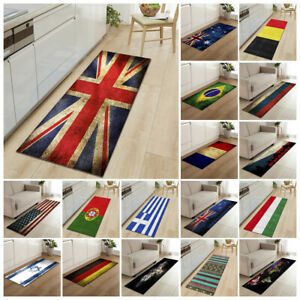 Union Jack Rug Nation Flag Mat Kitchen Mat Floor Carpet Non-Slip Hallway Runner