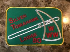 Boy Scout Lodge 80 Silver Tomahawk Merged Large Jacket Patch 136 67 Eastman OA