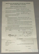 Orig. 1930-31 E.C.H.A. Roland St-Pierre Signed Contract