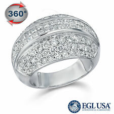 3.00CT D VS1 PRINCESS + ROUND DIAMONDS – 18KT WHITE GOLD – EGL USA CERTIFIED