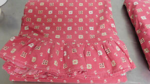 Vintage Ralph Lauren Tisbury 2 King Sheets-Ruffled Flat & Fitted-No Fade!