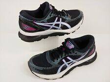 Asics Gel-Nimbus 21 Womens Sz 7.5 Running Athletic Shoes Black Skylight 1012A551