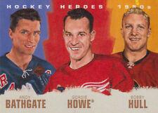11-12 Upper Deck Hockey Heroes ART Card 1950's #HH-13 BATHGATE - HOWE - HULL