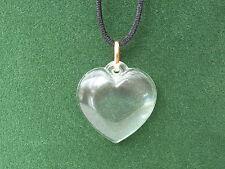 CRISTAL D'ARQUES *NEW* Pendentif coeur uni 3,5cm