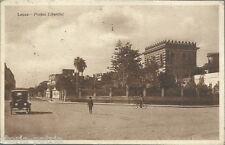PUGLIA_SALENTO_LECCE_PIAZZA LIBERTINI_ANIMATA VEDUTA_AUTOMOBILE_BICICLETTA_1926