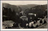Bad Freienwalde Oder Brandenburg Postkarte 1932 gelaufen Blick ins Brunnental