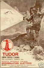 TUDOR -alpinista-BAITA-pila-LAMPADA TASCABILE-1917.