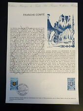 FRANCE MUSEE POSTAL FDC 01-77    LA FRANCHE COMTE   2,10F   BESANCON    1977