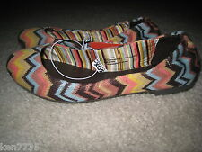 NWT MISSONI FOR TARGET GIRLS ZIG ZAG BALLET SHOES SIZE 3